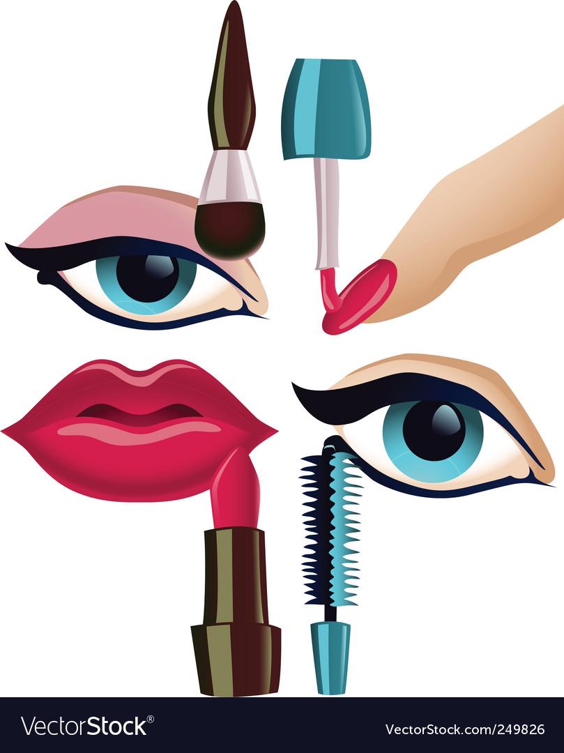 Makeup set vector image
