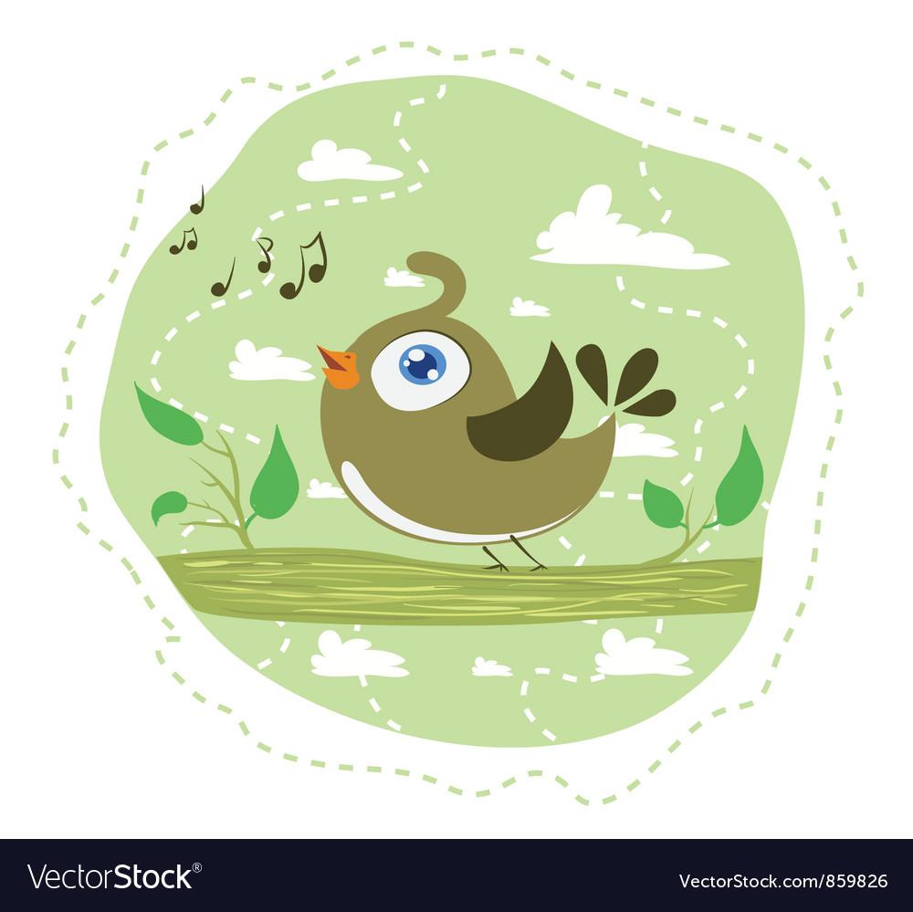 Singing bird vector image