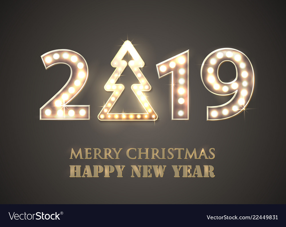 2019 merry christmas and happy new year with