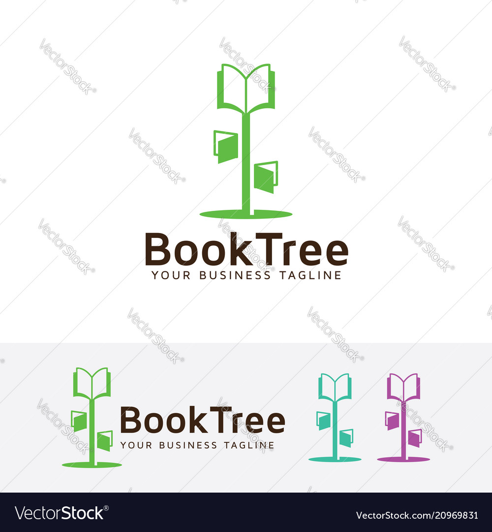 Book tree logo design
