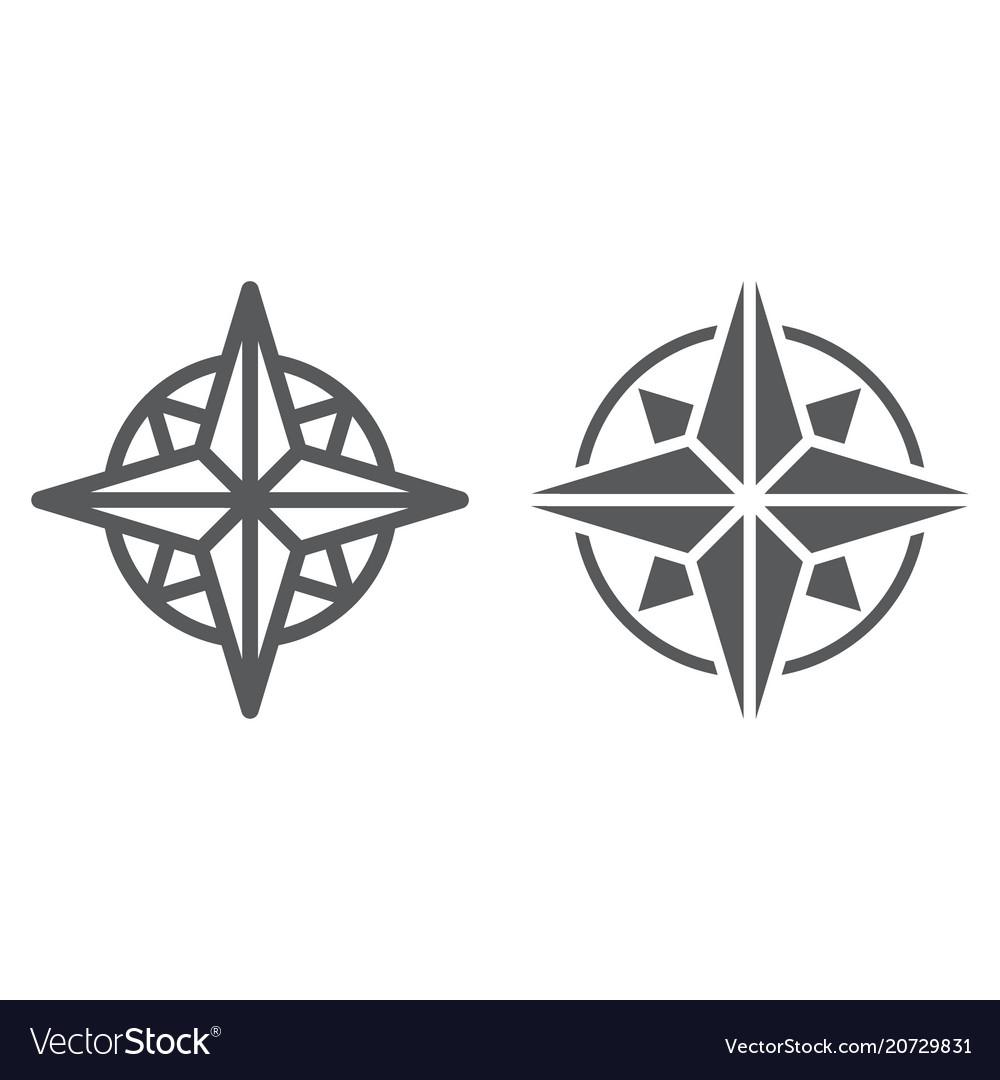 Compass line and glyph icon navigator