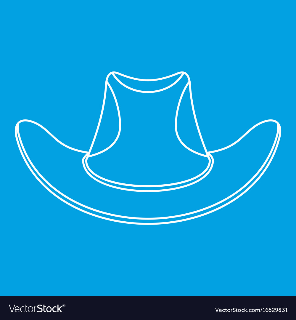 Cowboy hat icon outline style