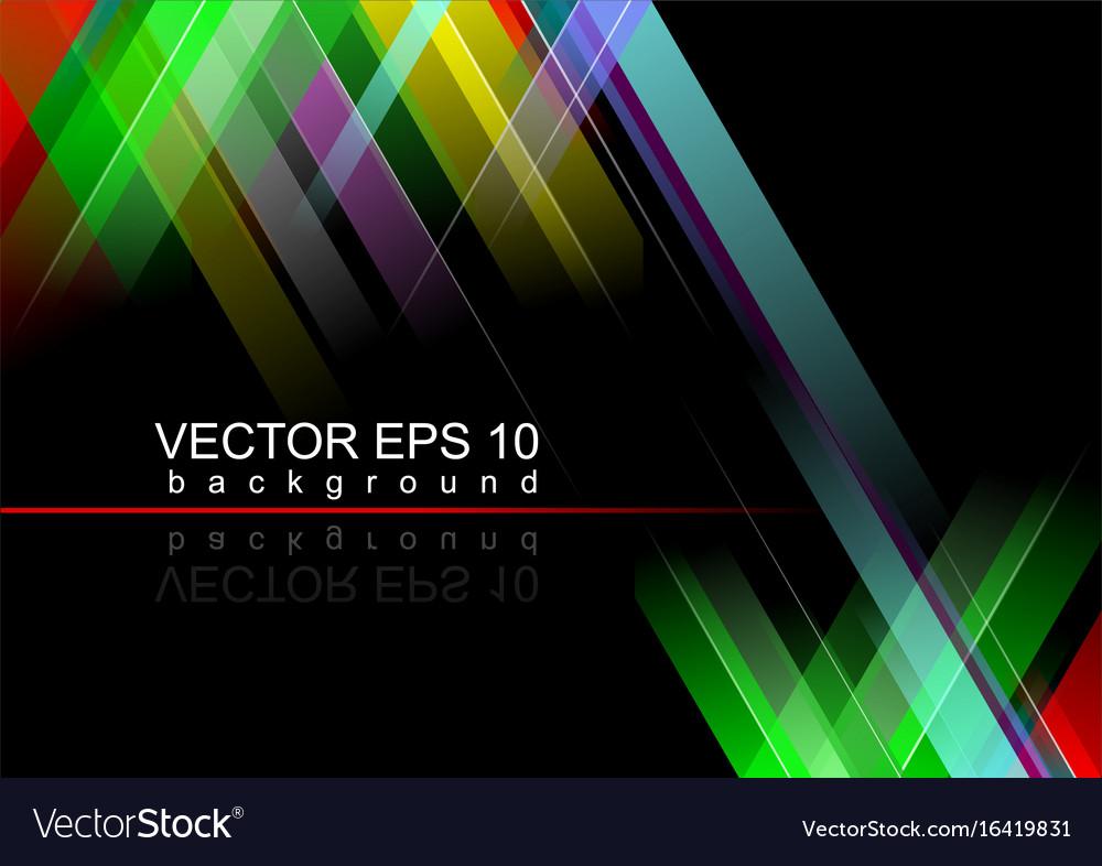 Eps 10 black background vector image