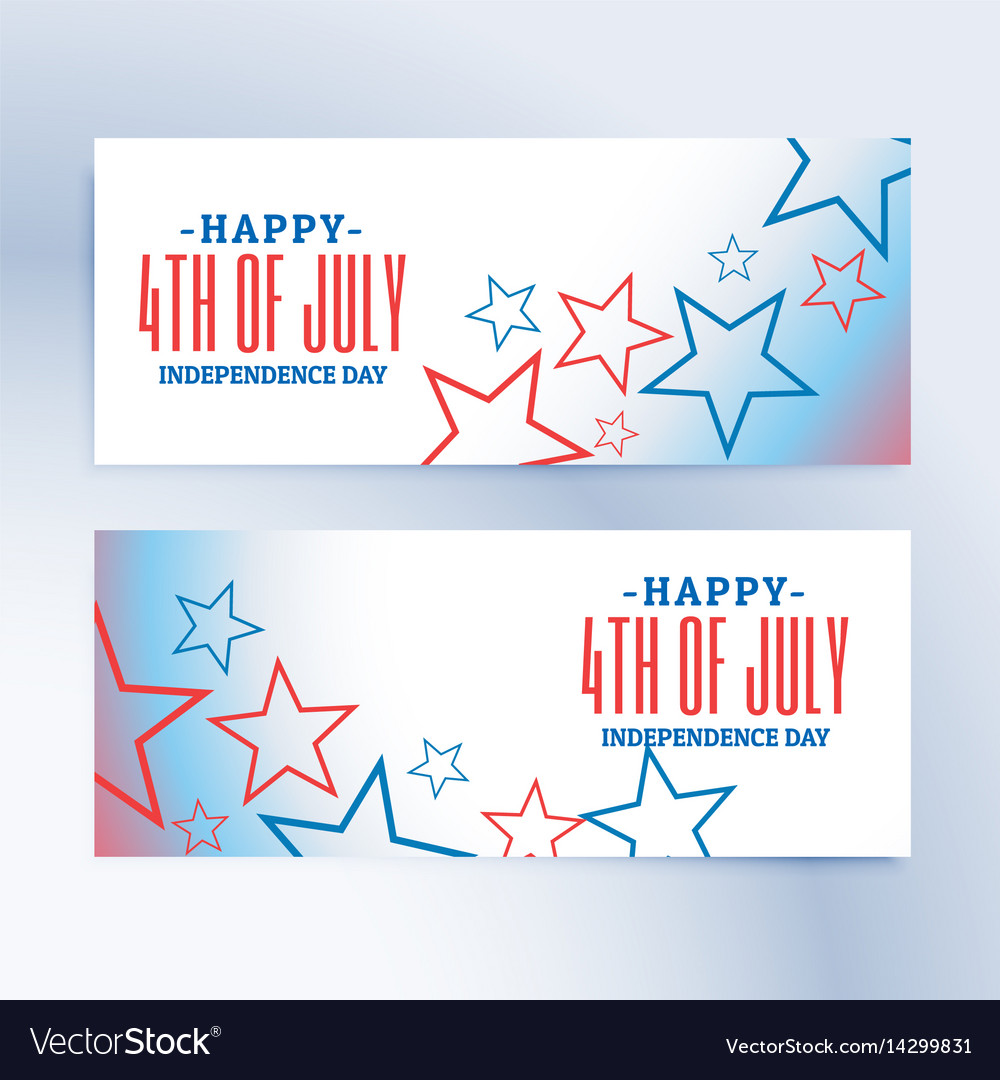 Happy 4th of july independence day banners and