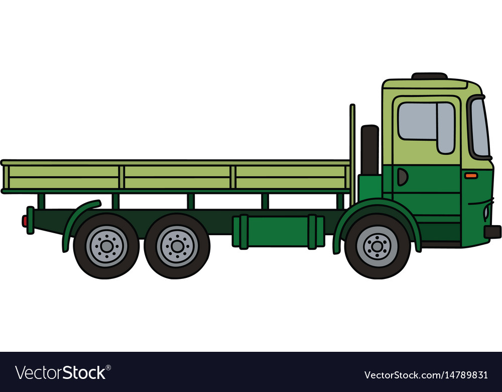 Light and dark green truck vector image