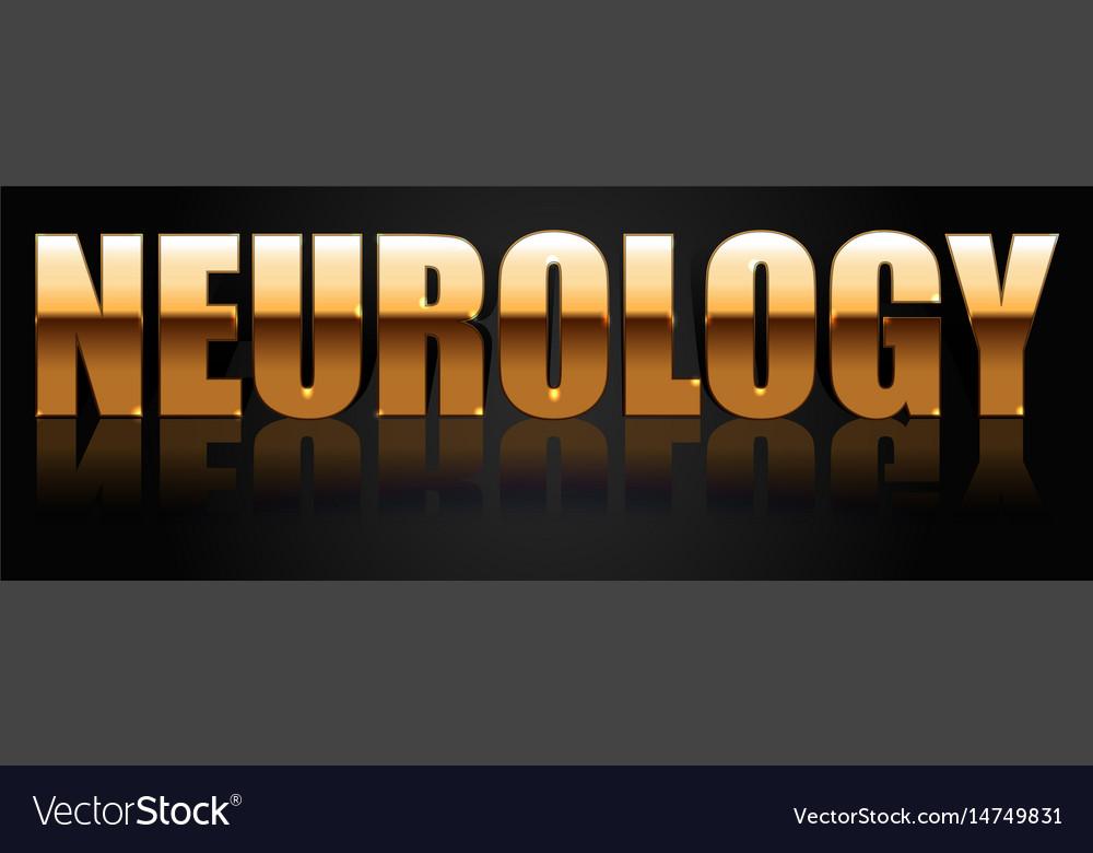 Neurology golden logo vector image