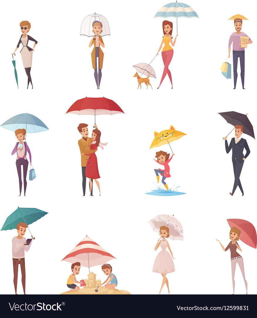 People Standing Under Umbrella