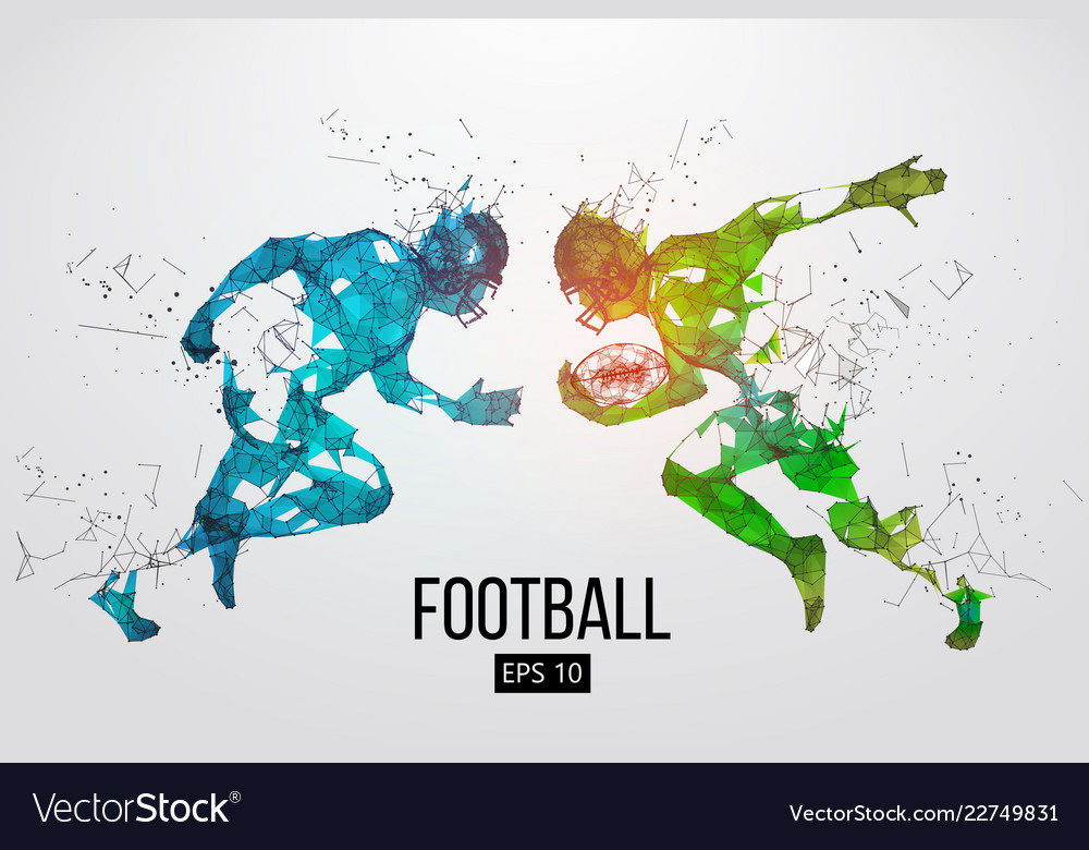 Silhouette of a american football rugby