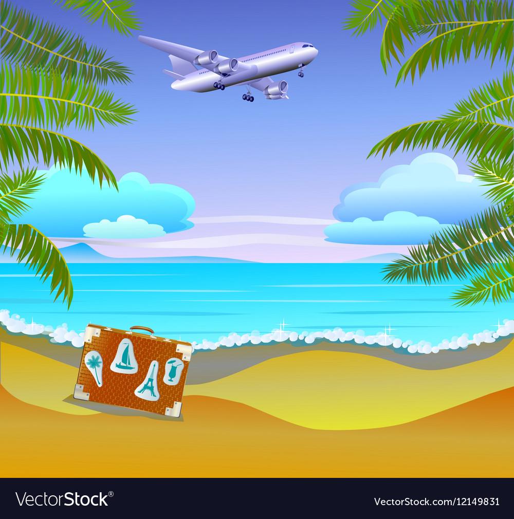 Travel The sea yachts palm trees Furlough