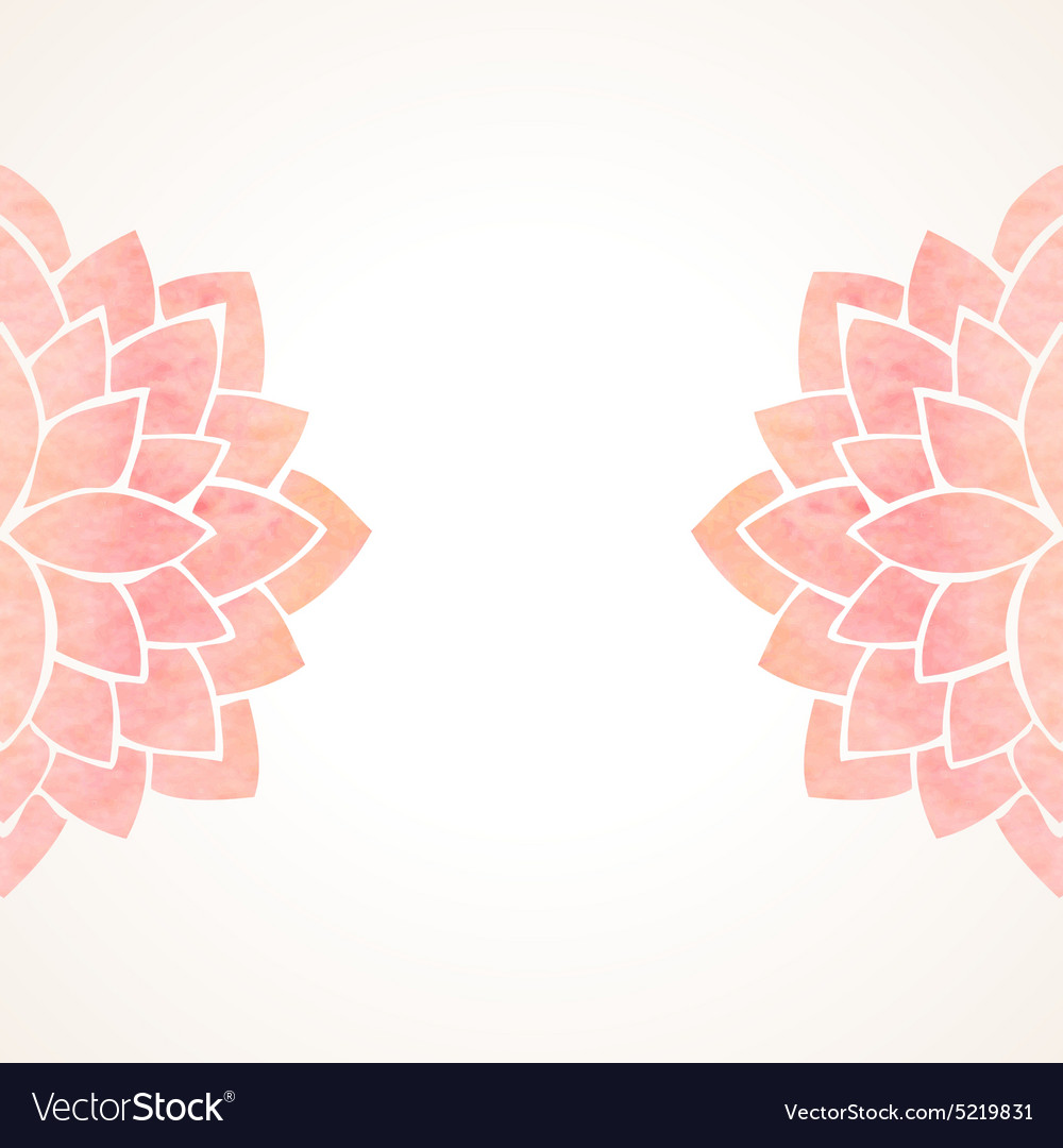 Watercolor Pink Floral Background Royalty Free Vector Image