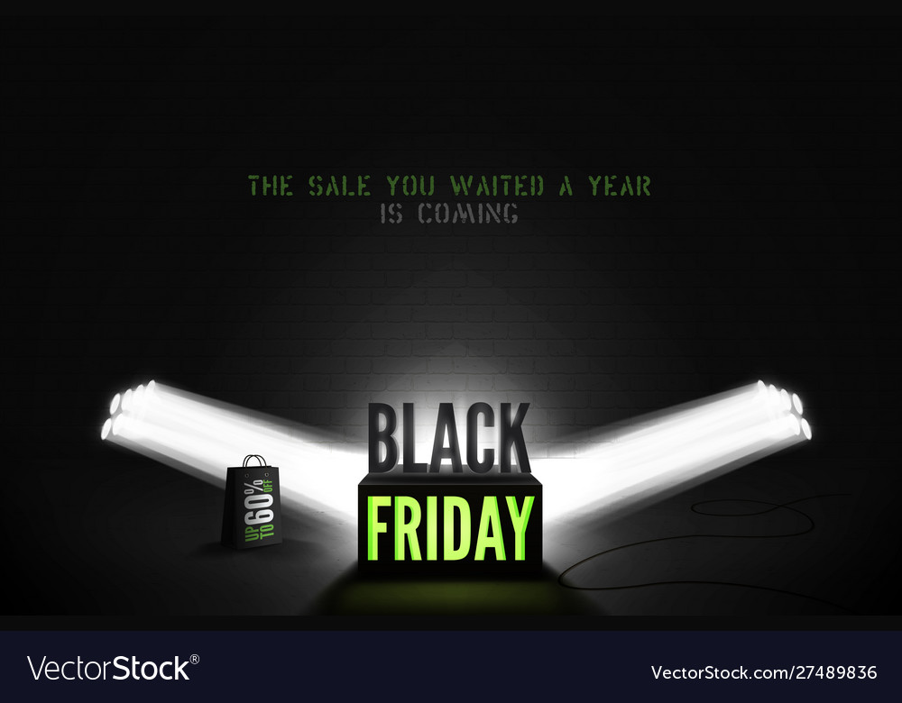 Black friday 60 percent sale banner