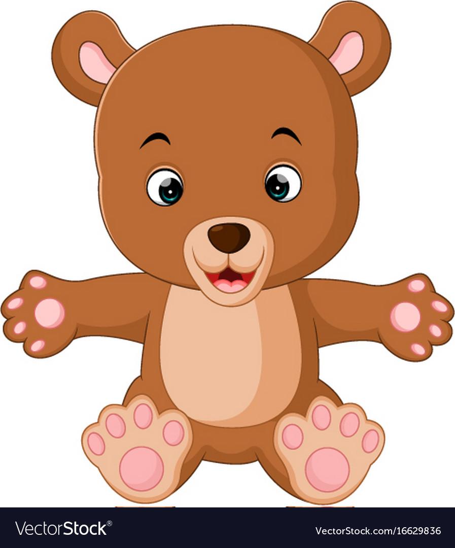 cute baby bears cartoon royalty free vector image rh vectorstock com bear cartoon images wallpaper cartoon polar bear images