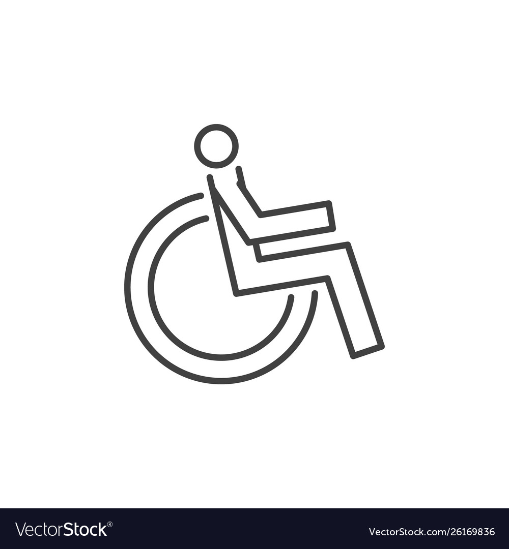 Disabled handicap concept icon in thin line