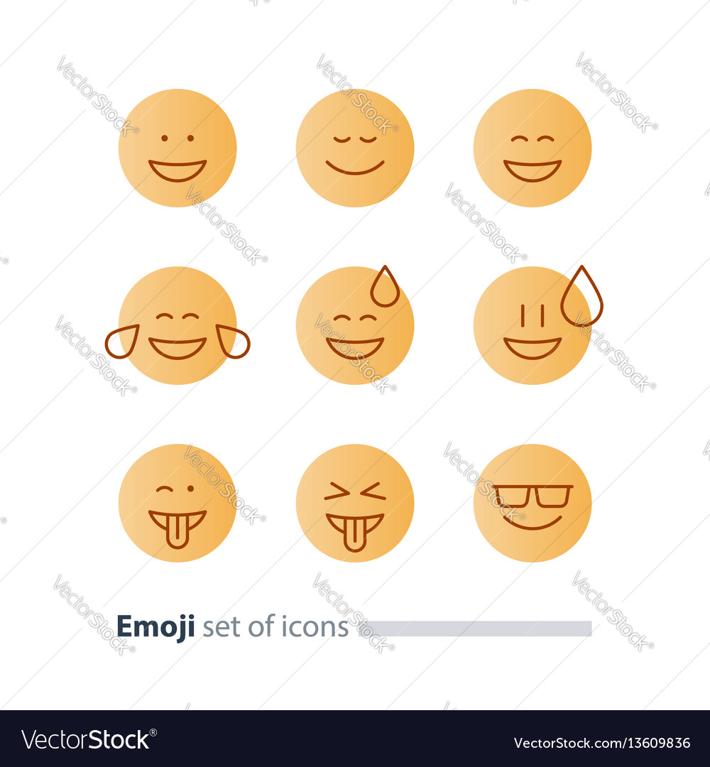 Emoji Icons Emoticon Symbols Face Expression Signs