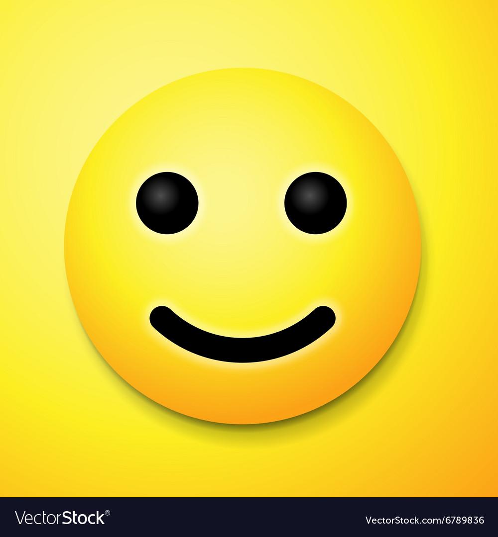 Emoji Smile Symbol Royalty Free Vector Image Vectorstock