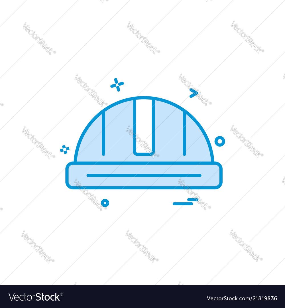 Helmet labour icon design icon