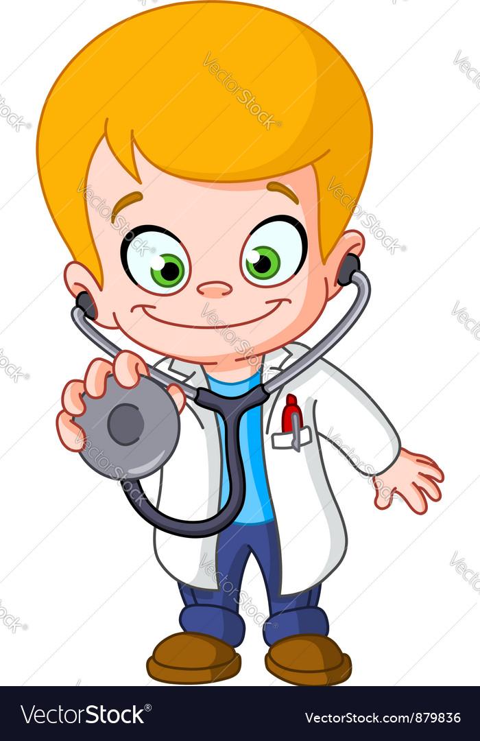 Kid doctor vector image