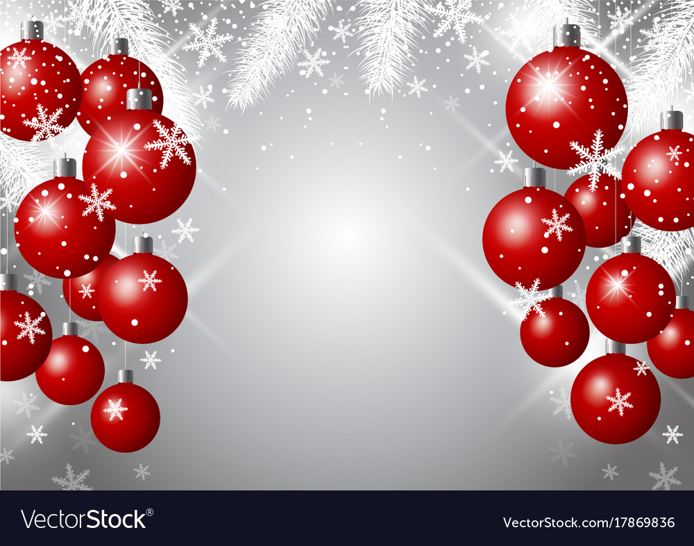 Luxury Christmas Background Design Of Red Xmas