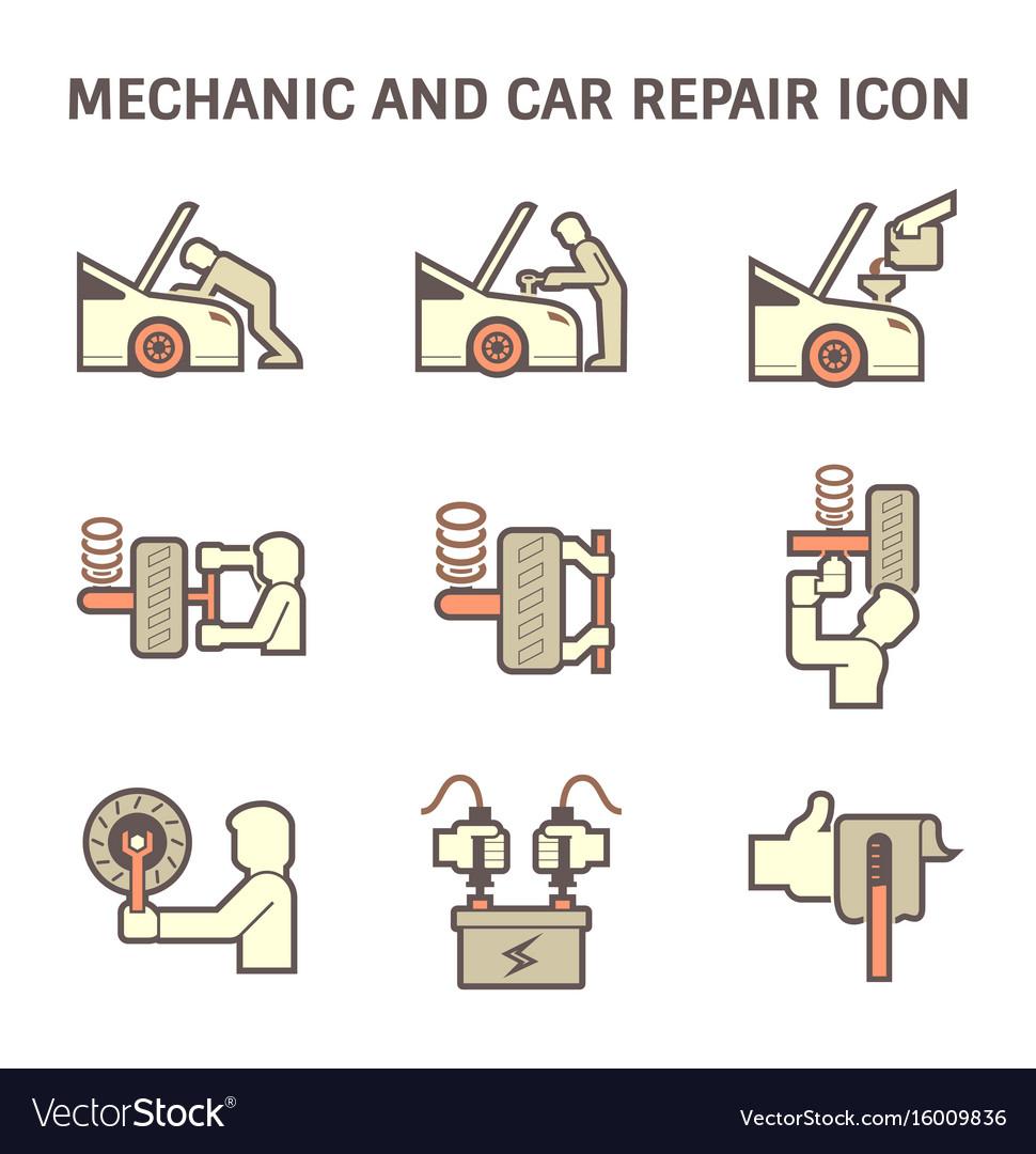 Mechanic car icon vector image