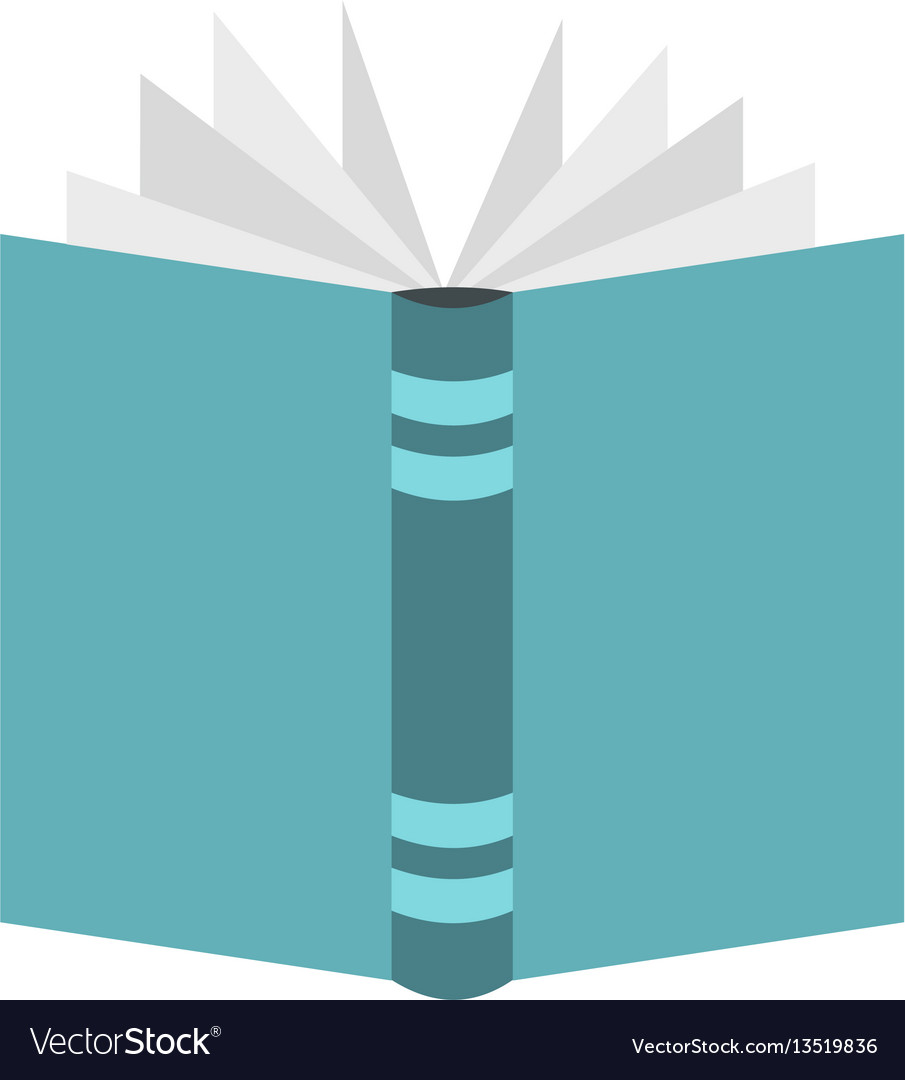 open thick book icon flat style royalty free vector image