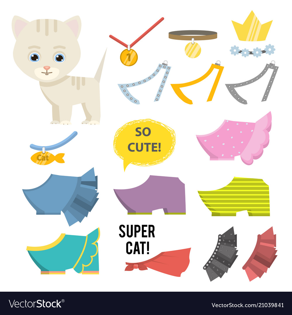 Cute cartoon catclothesbijou