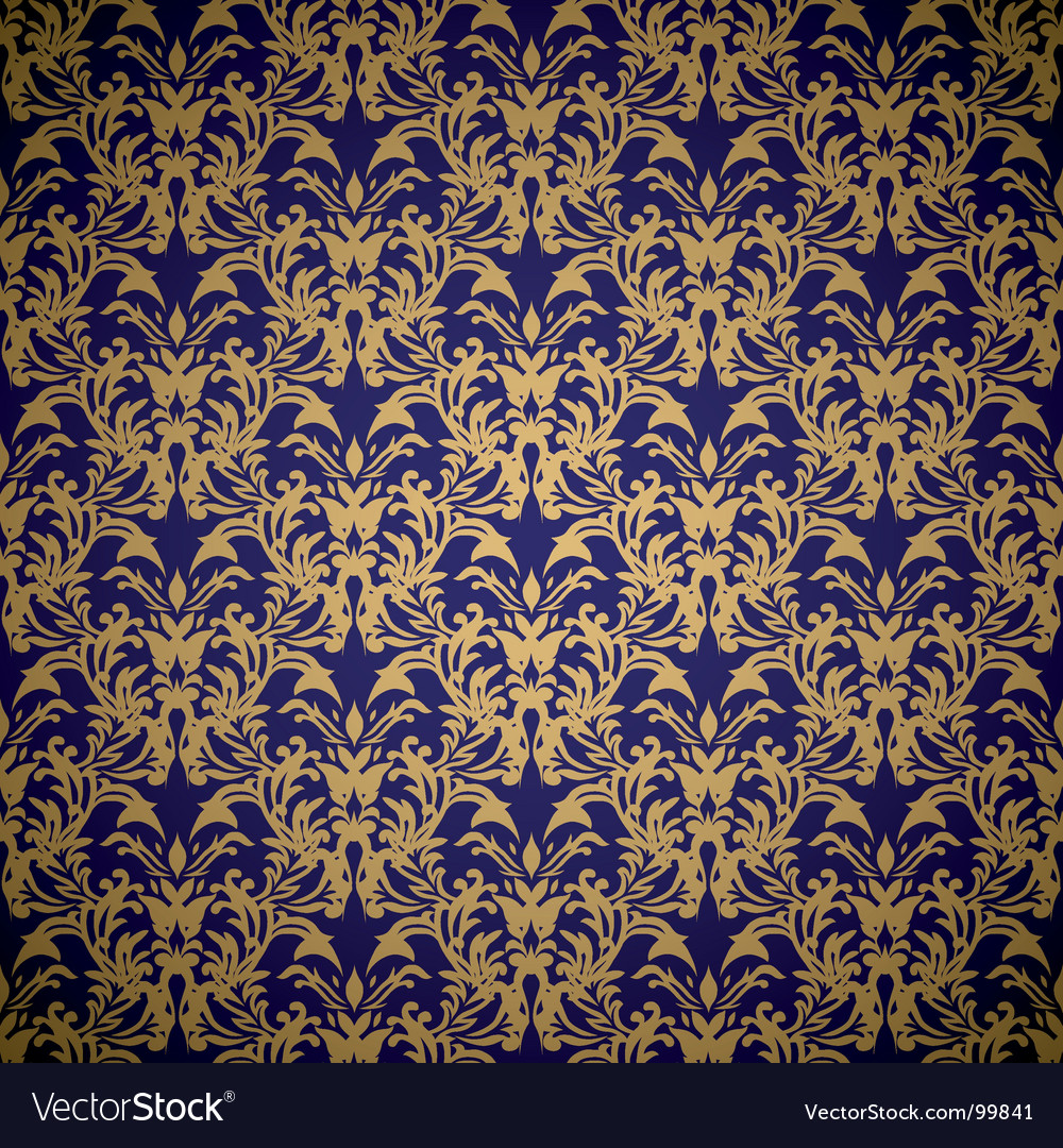 Floral royal wallpaper vector image