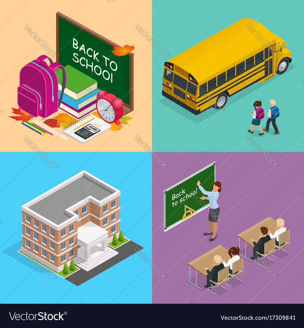 Four isometric web concepts a school board