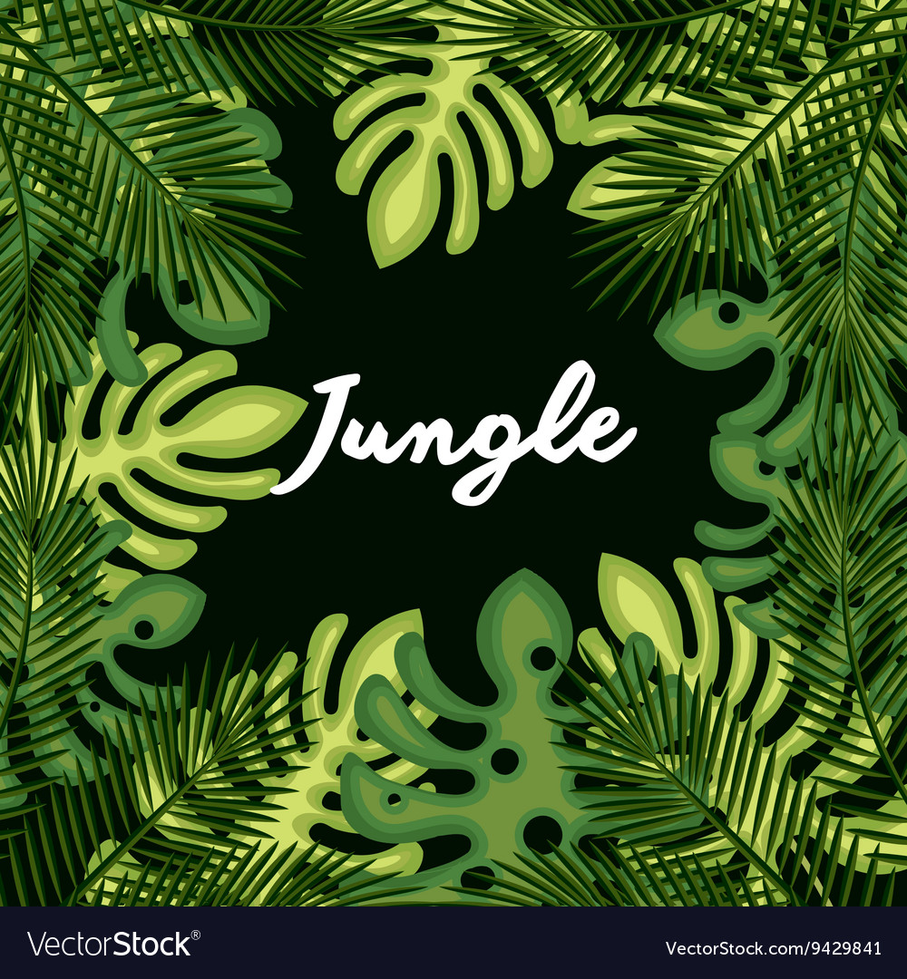 Jungle leaves pattern isolated icon design