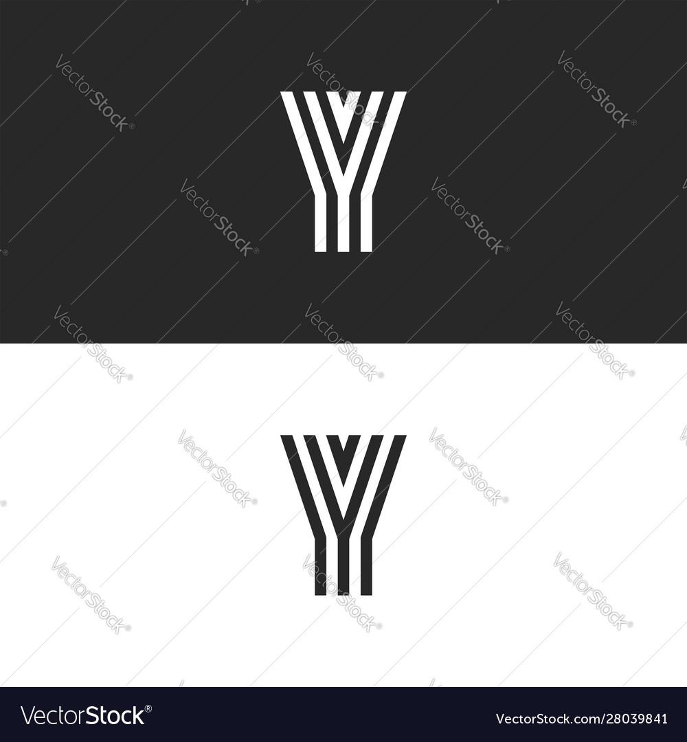 Logo y letter monogram creative stylish design