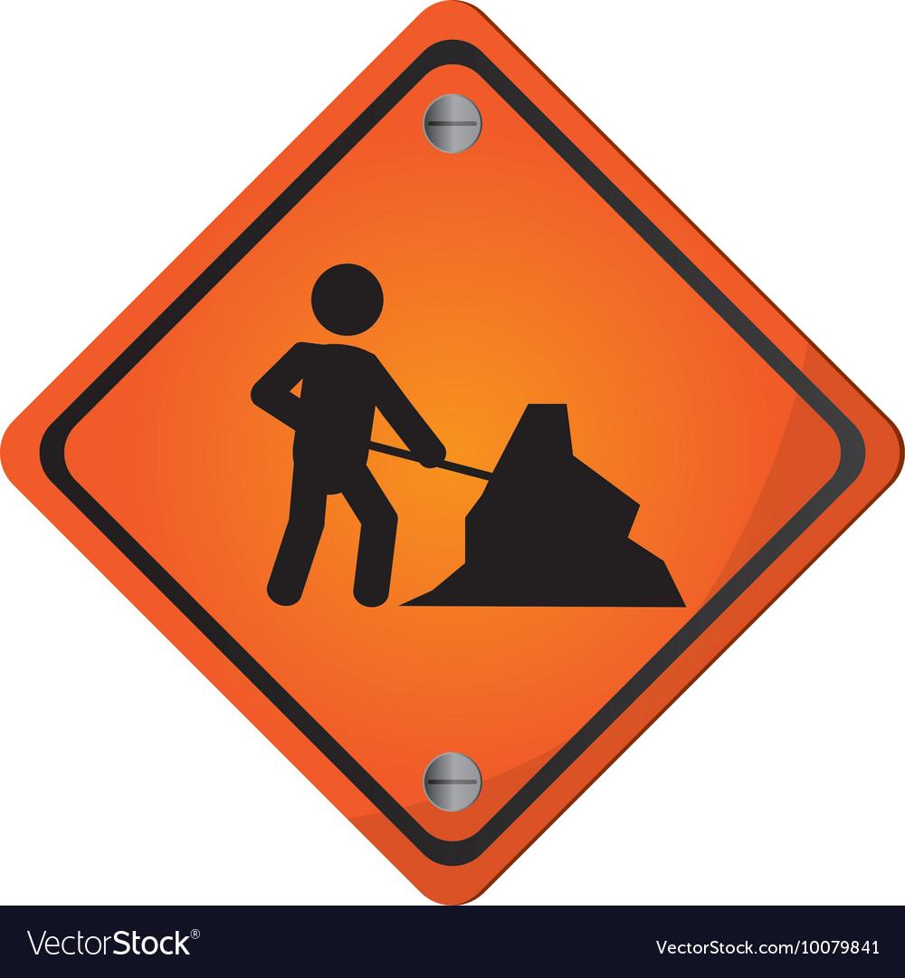 Men at work traffic sign icon