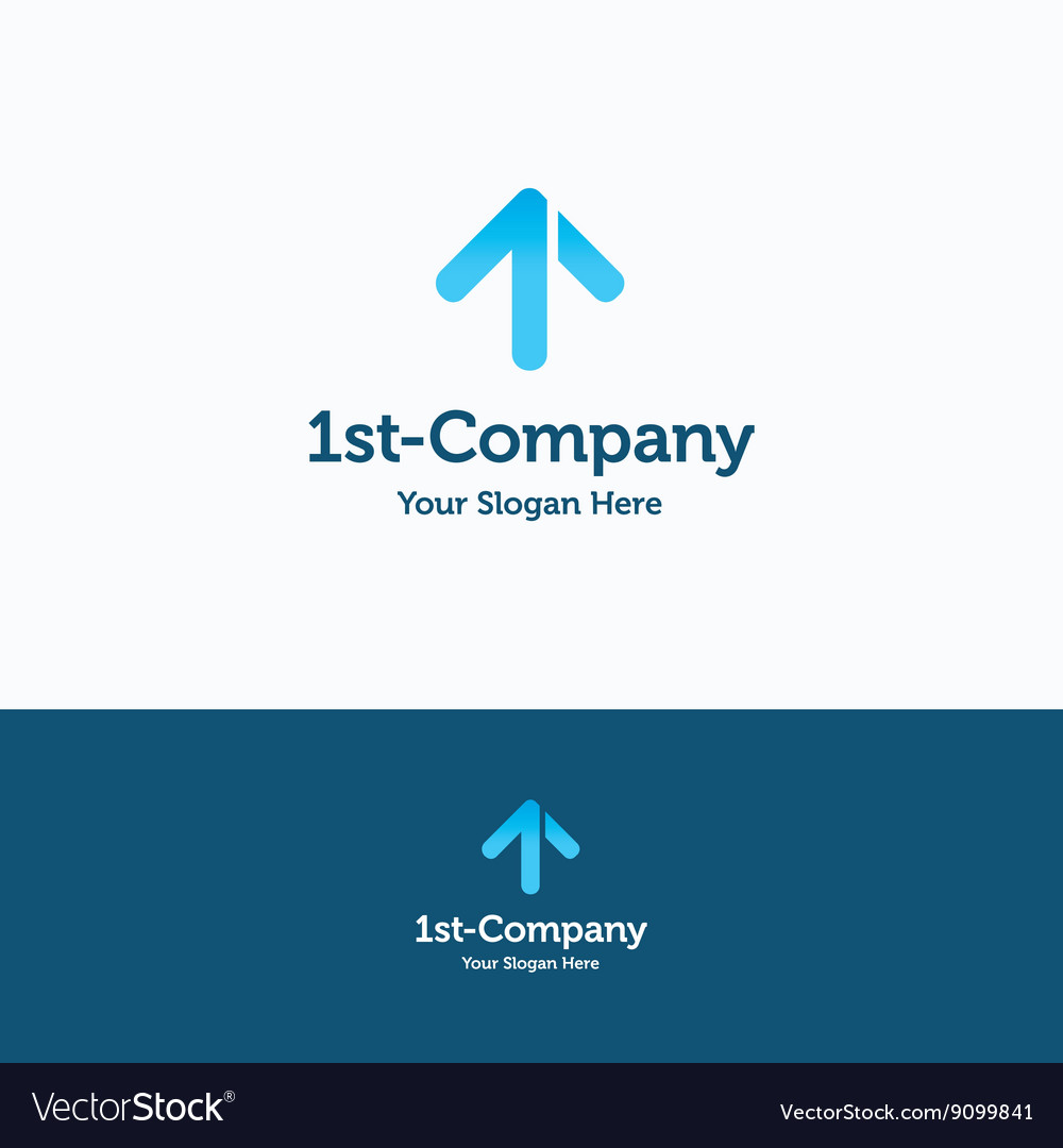 One 1 first logo vector image