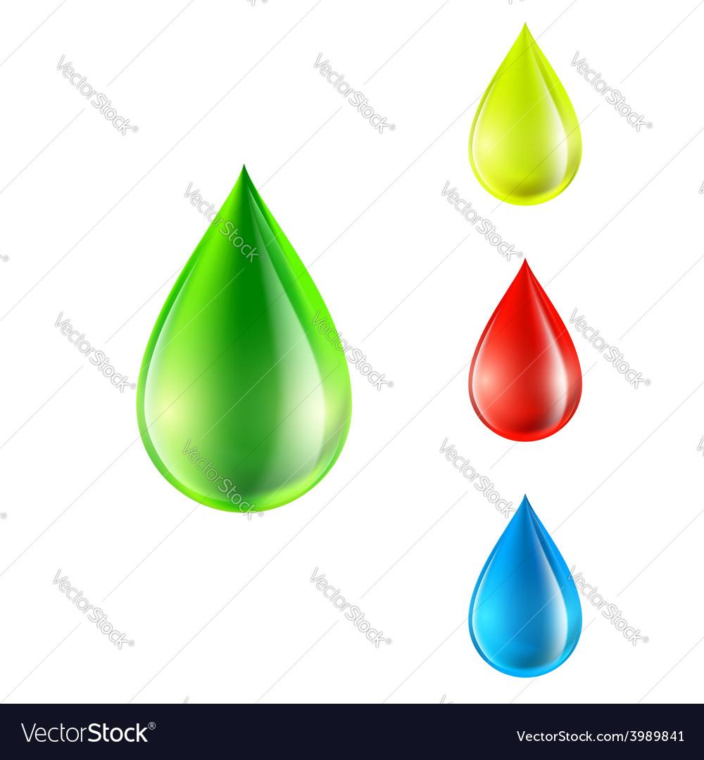 Set of colored drops