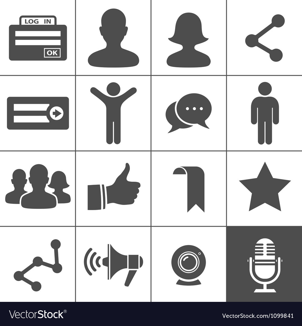 Social Networks Icons vector image