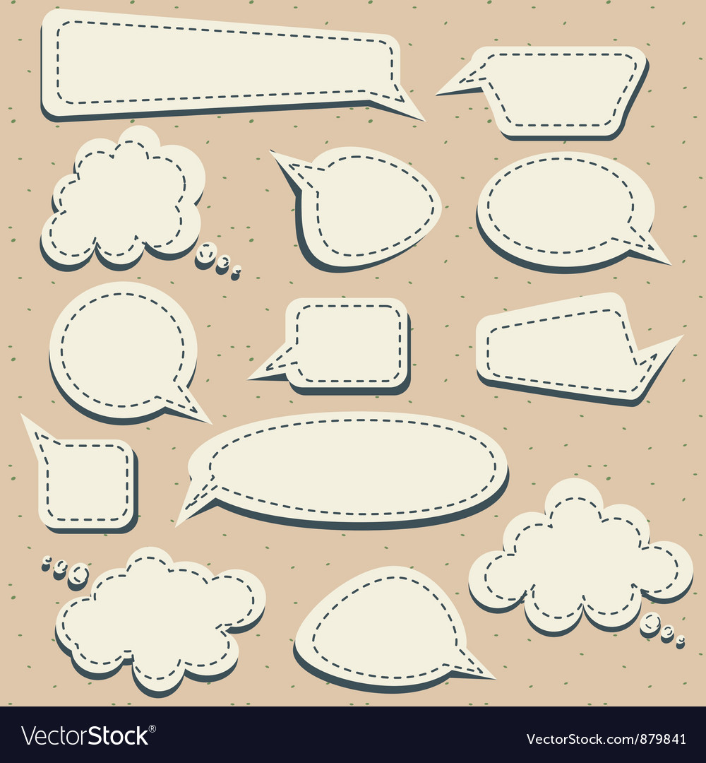 Speech and thought blobs vector image