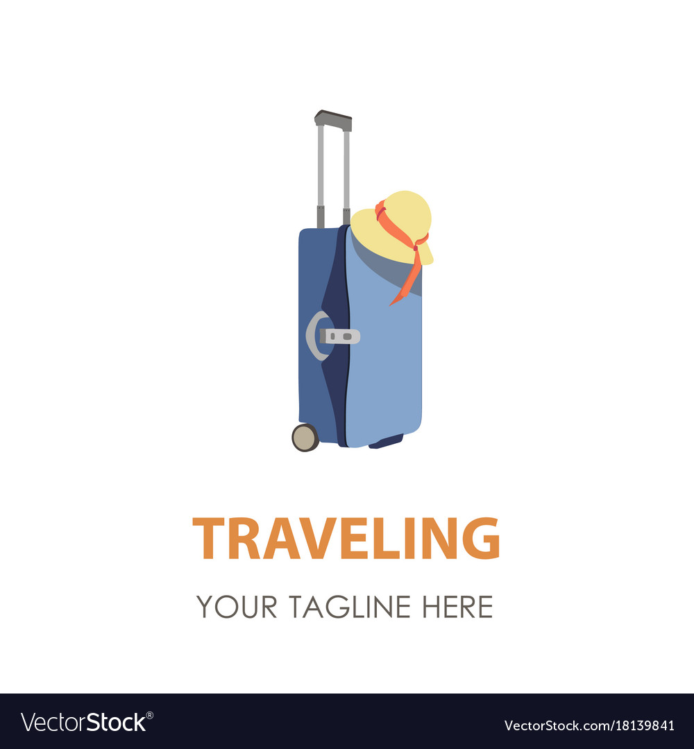 Suitcase logo travel icon symbol bag design