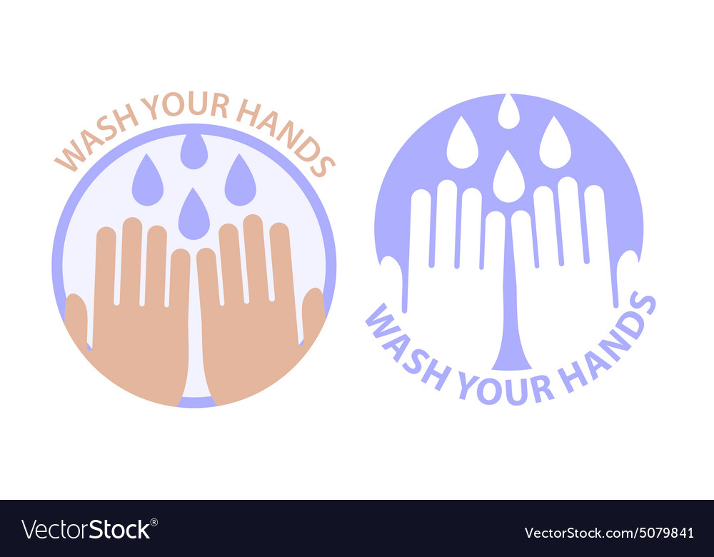 Wash your hands symbol vector image