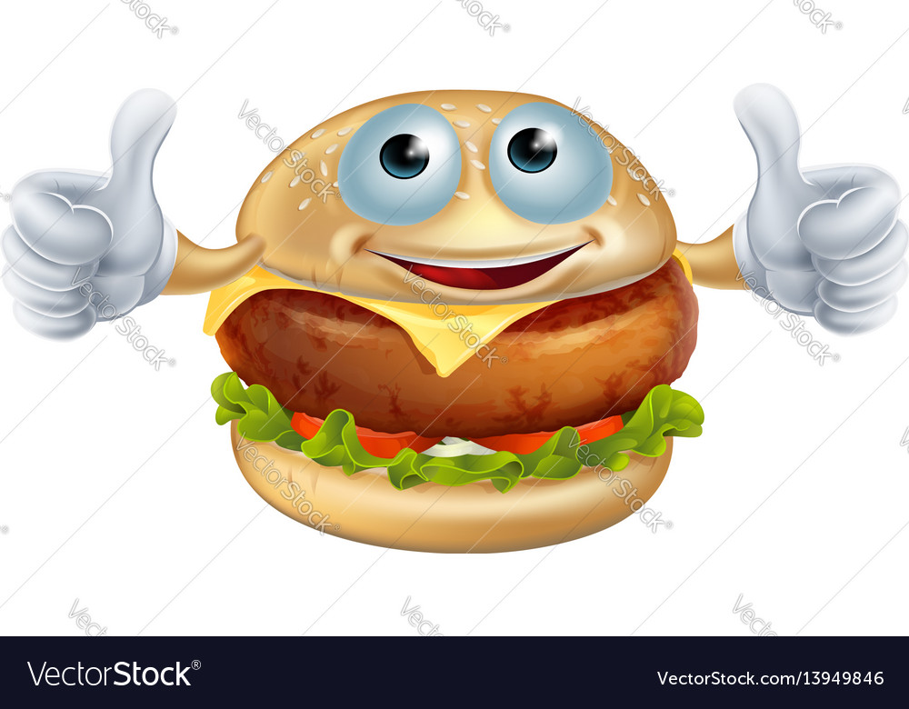 Cartoon burger man