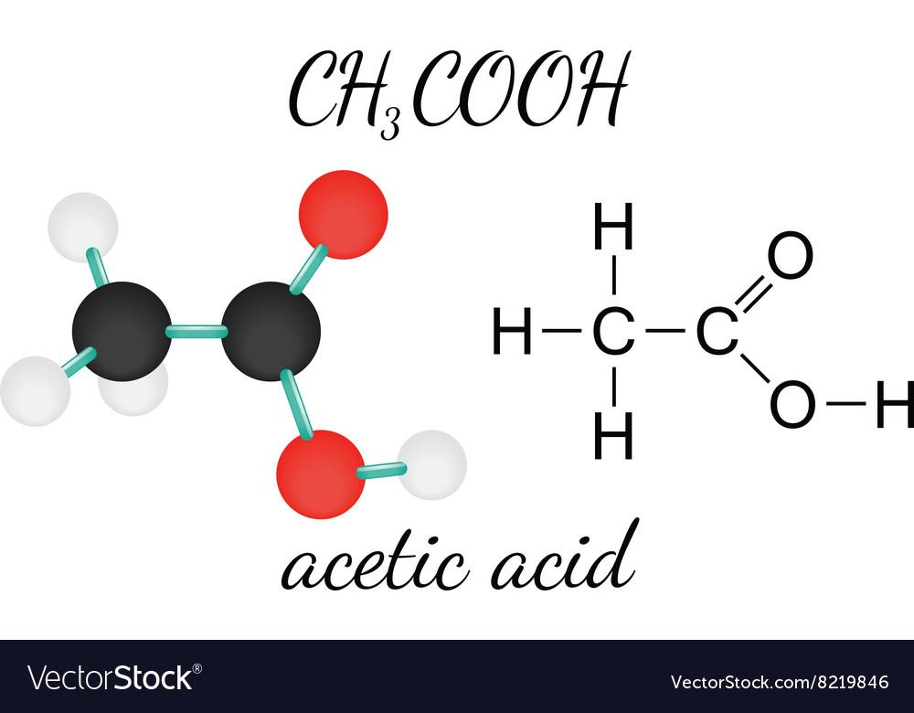 CH3COOH acetic acid molecule