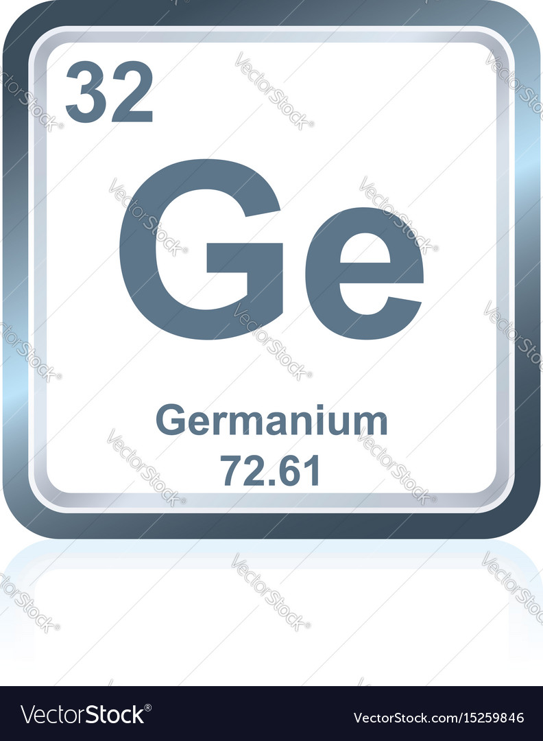 Chemical Element Germanium From The Periodic Table