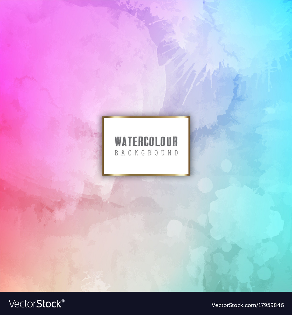 Detailed watercolour background vector image
