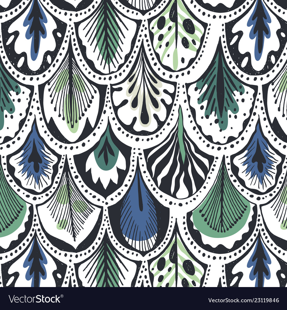 Exotic feather pattern