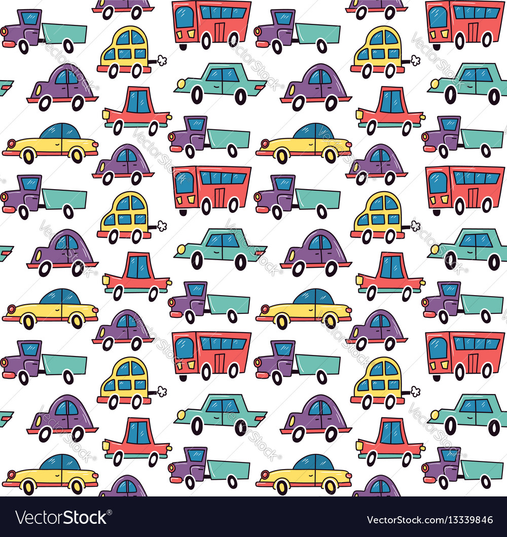 Funny cars pattern