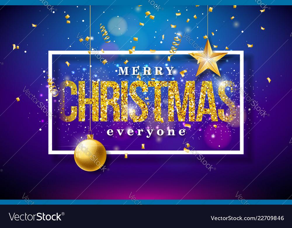 Merry christmas on shiny bright