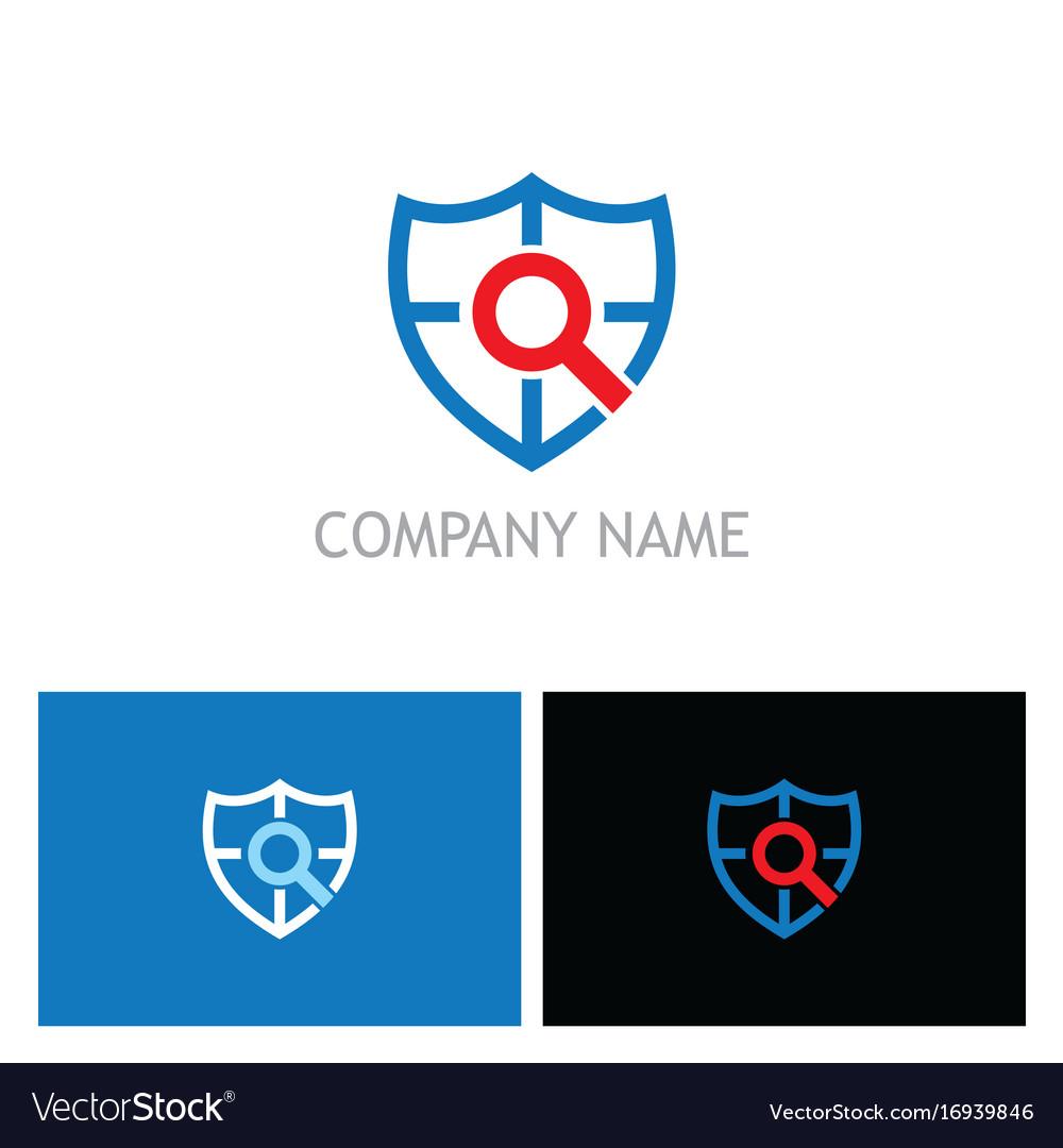 Shield search guard technology logo