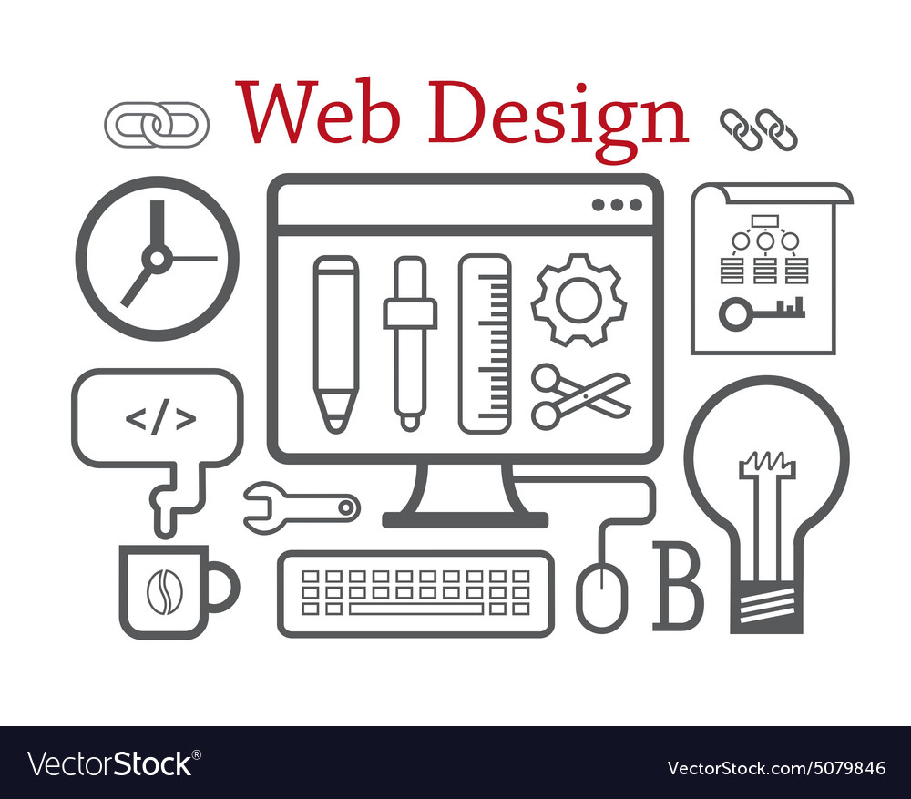 Web design concept Isolated on white