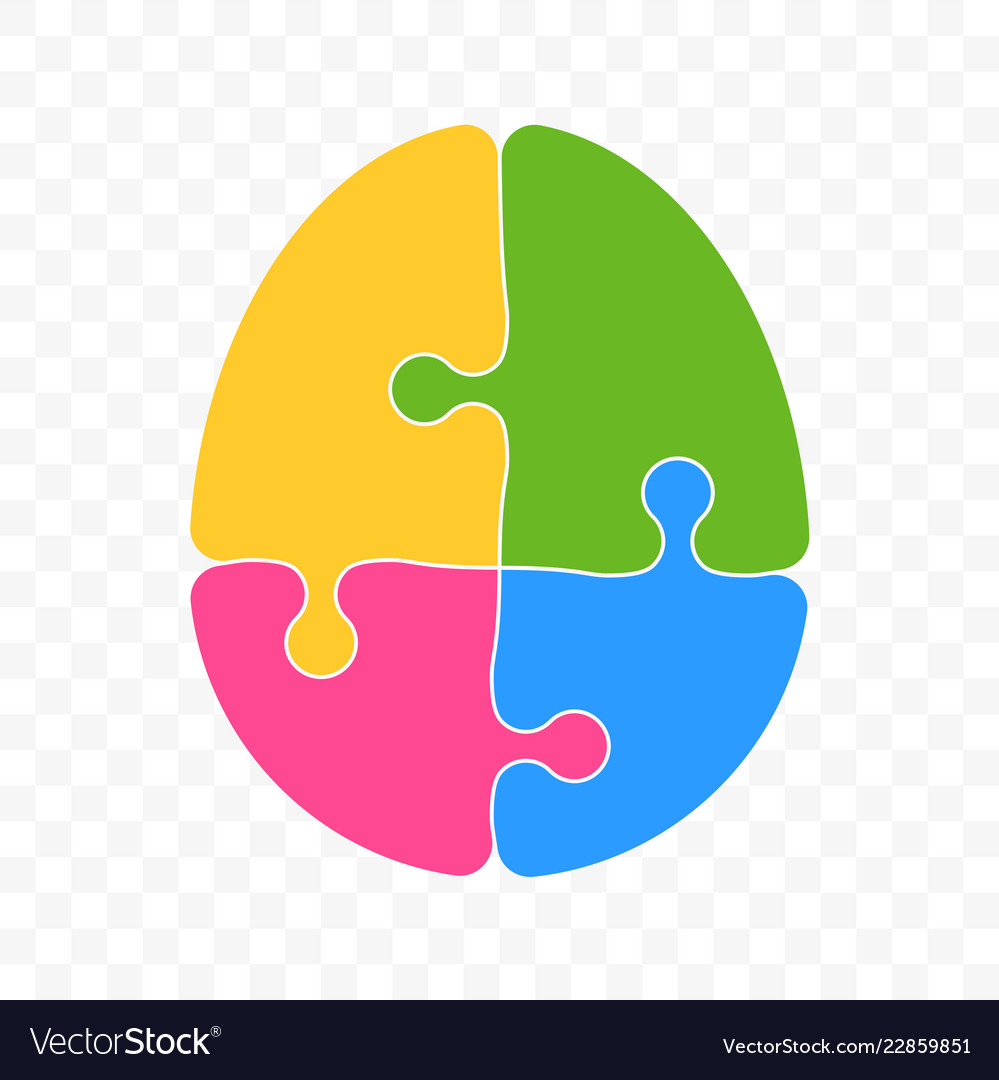 Brain puzzle logo for smart logic mind idea