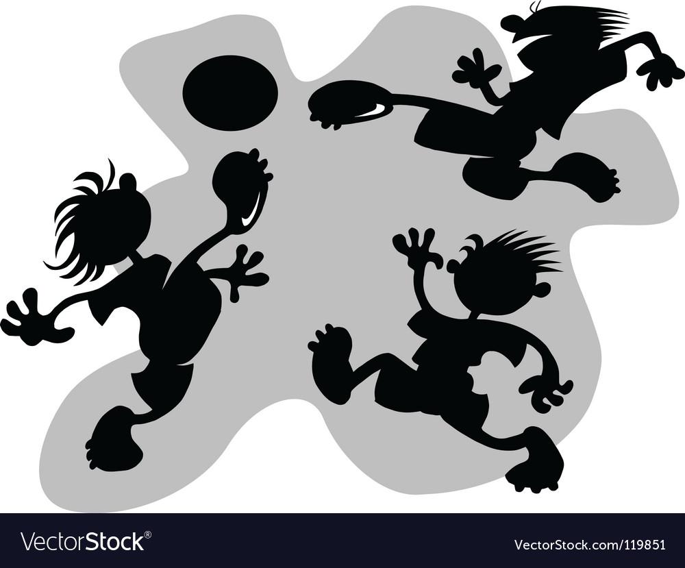 Cartoon football vector image