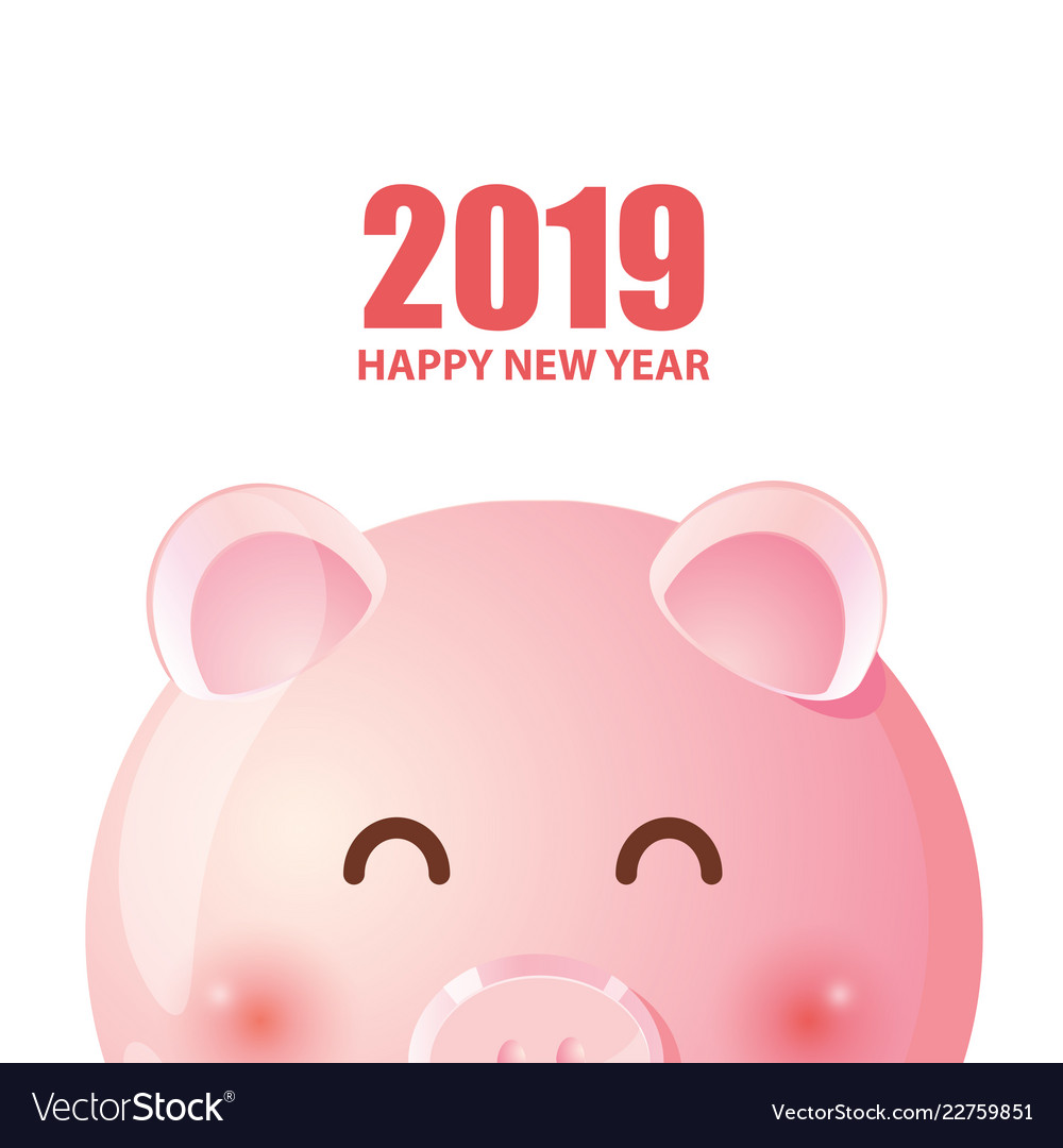 Cute piggy for chinese new year 2019