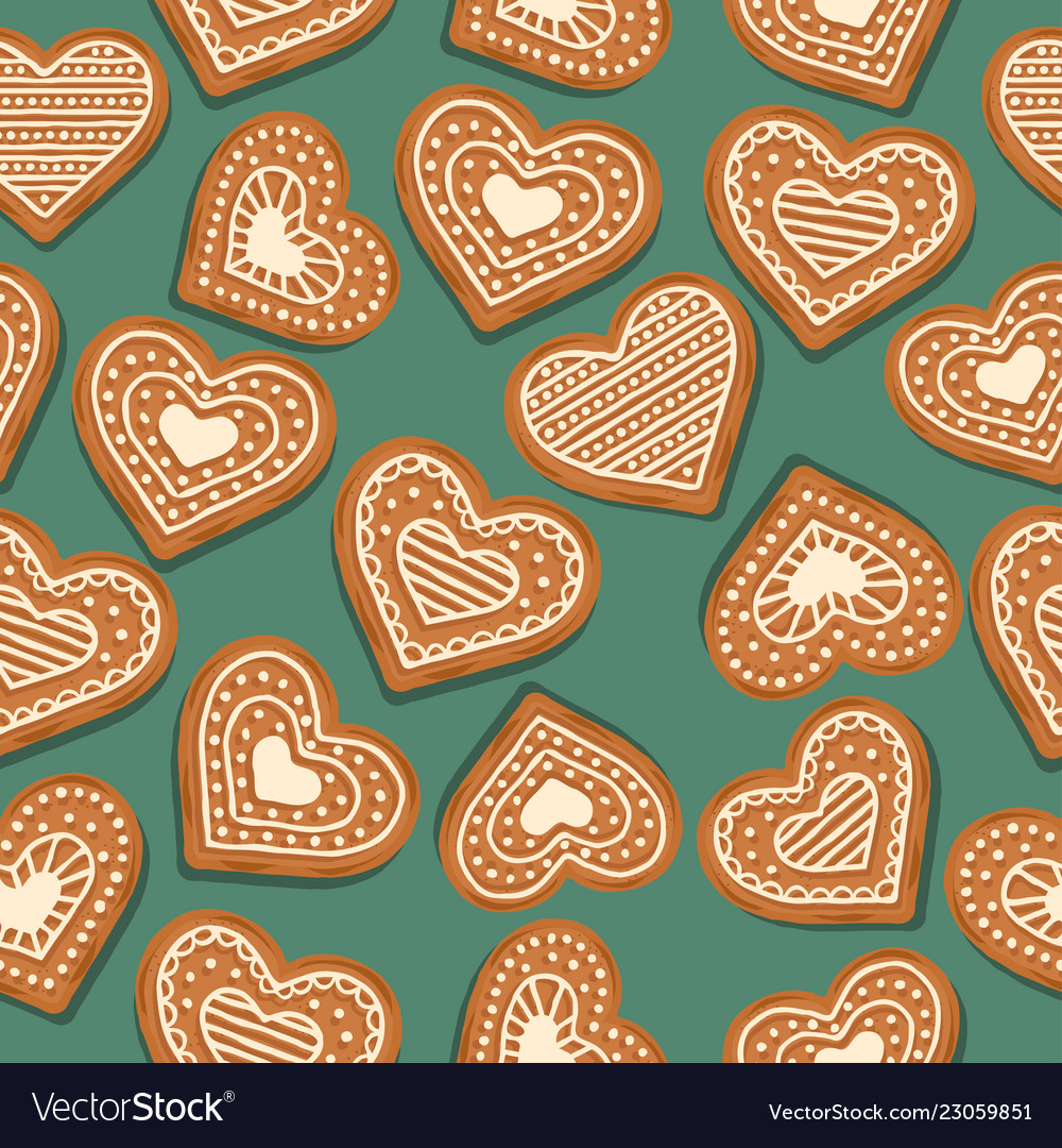 Festive christmas seamless pattern with