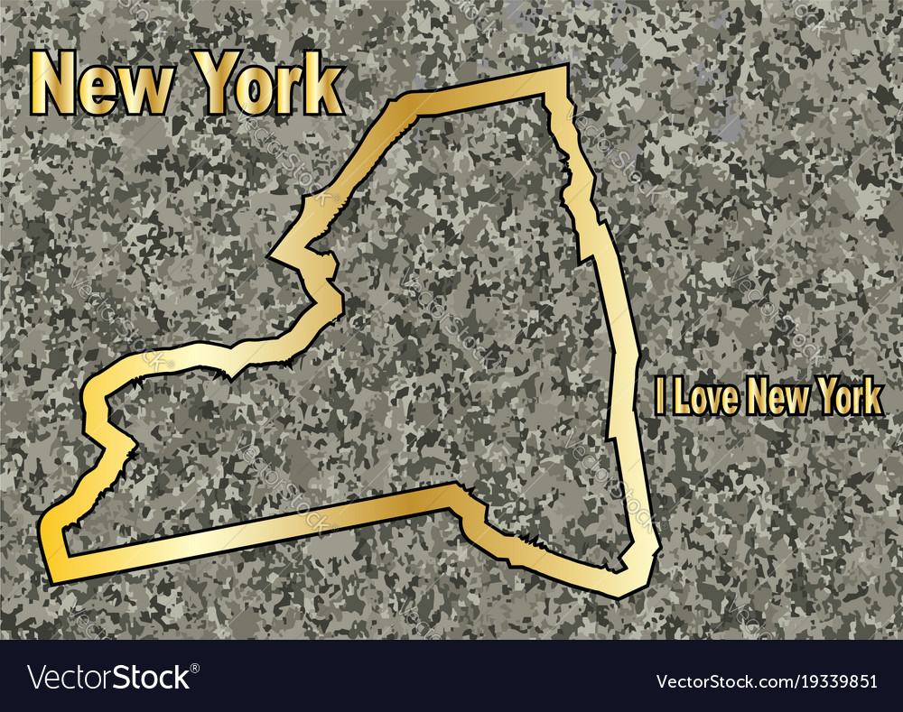 New york in stone vector image